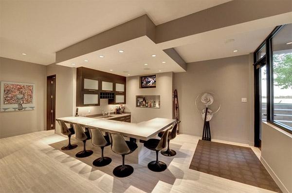 sophisticated basement