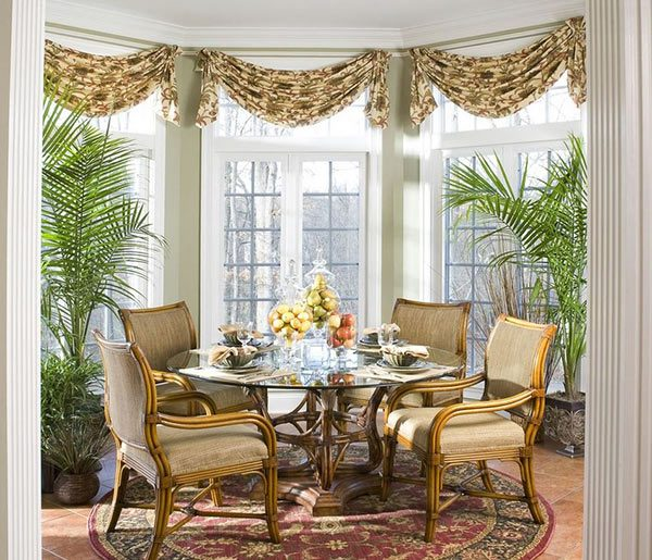 20 dining room window treatment ideas home design lover for Dining room window designs