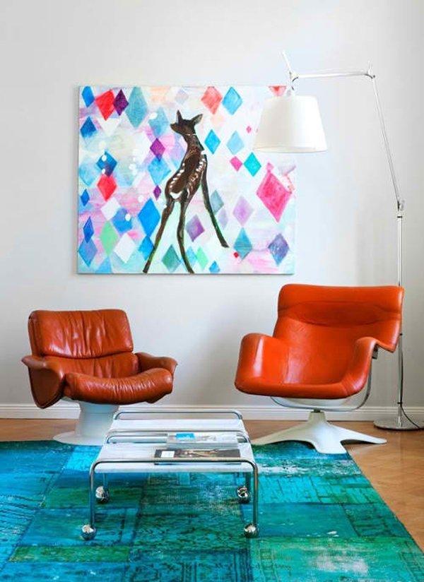 20 pop decorating ideas for the living room home design for Scandi deko