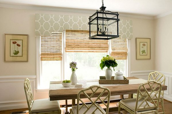 2. Cornice And Woven Blinds