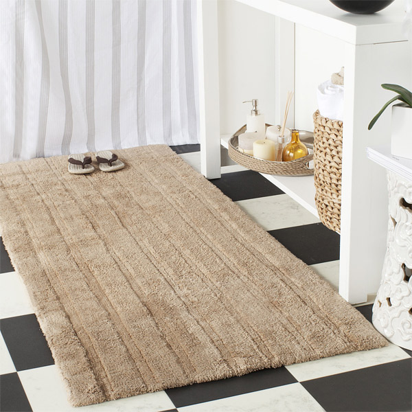 Merveilleux Cotton Hand Woven Bathroom Floor Rug