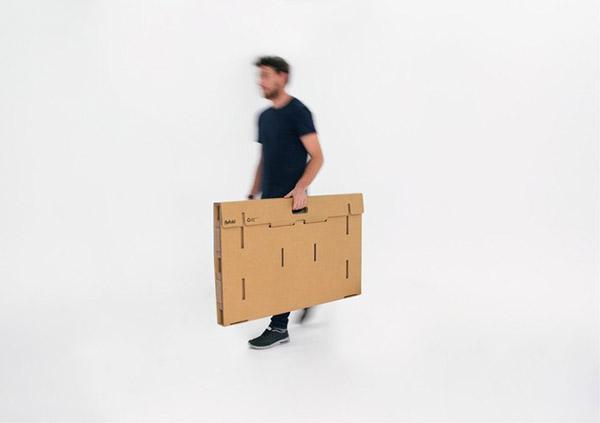 Portable cardboard desk