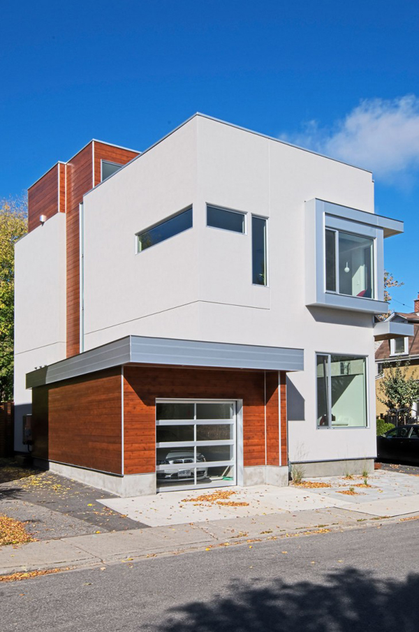 Sass and fluid design of the modern fold place house in for Modern house design ottawa