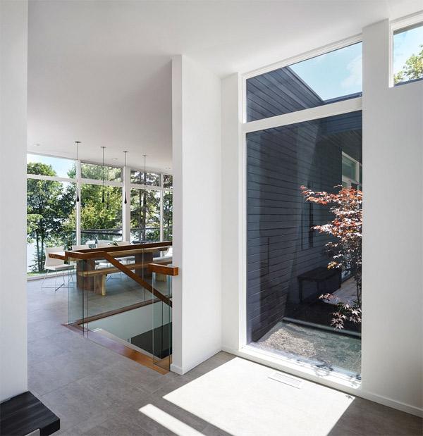 foyer glass wall