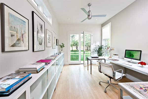 white home office