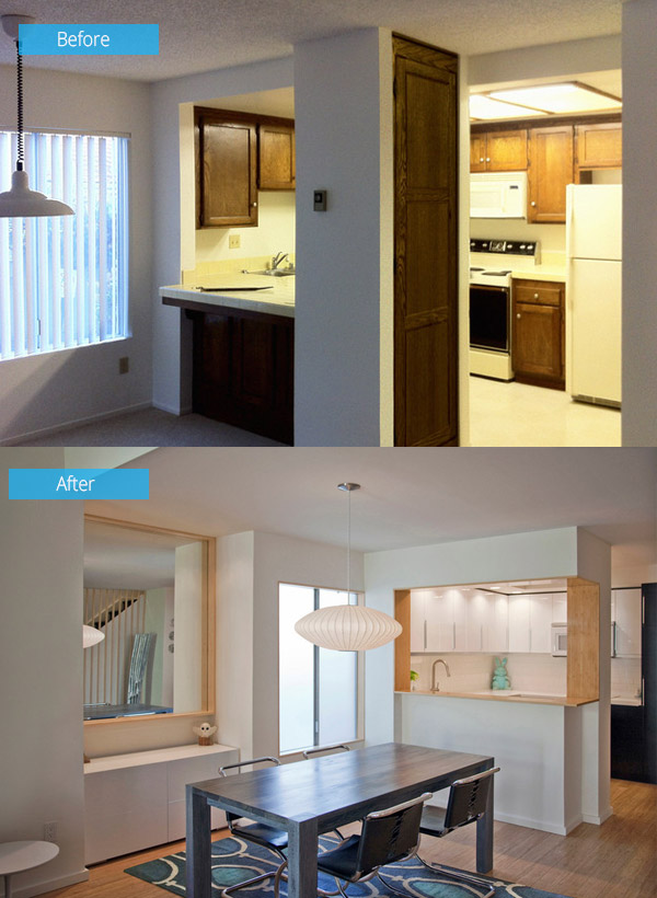 Before and After Photos of a Townhouse Renovation in San Diego ...