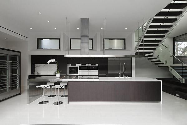 silver black kitchen