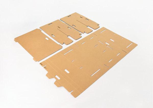 cardboard desk design