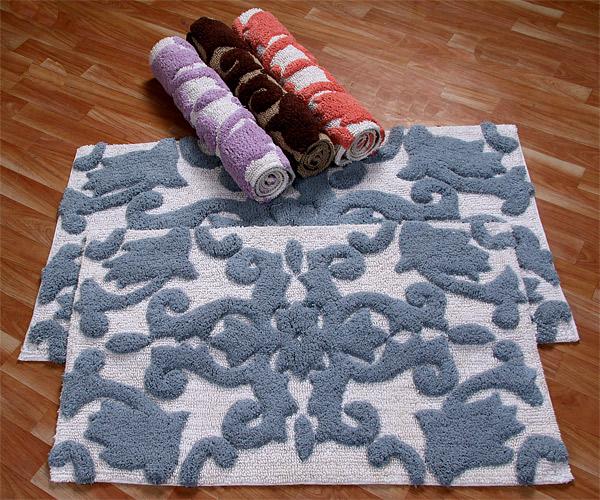 two-set cotton bathroom floor rug