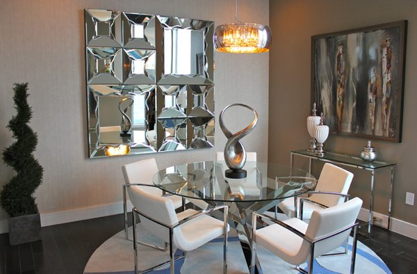 20 Lovely Dining Room With Stunning Mirrors Home Design Lover