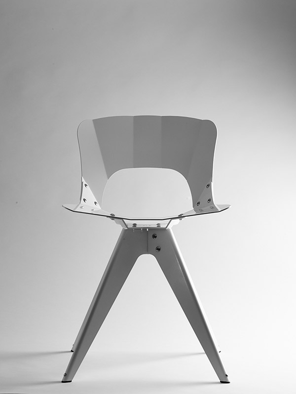 usa ok chair a modern geometric chair for indoor and