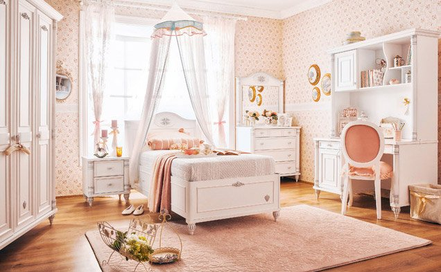 Vintage Feel Princess Bedroom