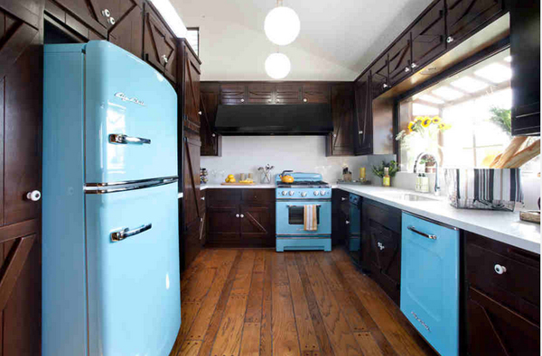 Rustic wooden cabinets