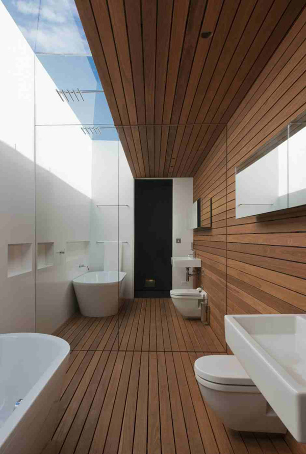 wood deck bathroom