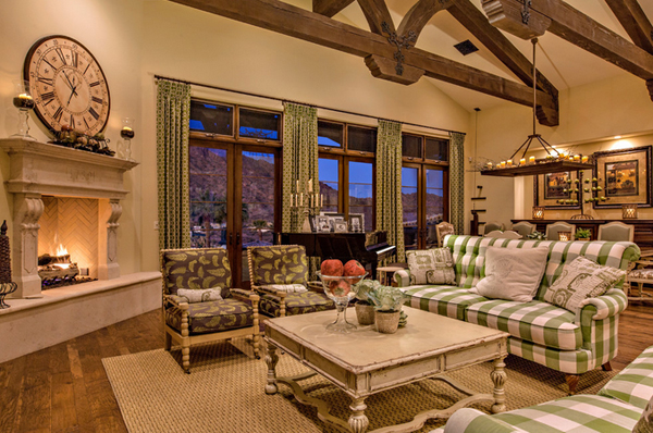 Nice French Country Living Rooms