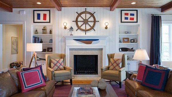 20 nautical home decorations in the living room home design lover. Black Bedroom Furniture Sets. Home Design Ideas