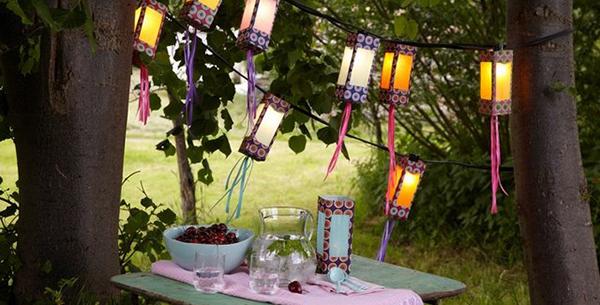 creative garden paper lanterns