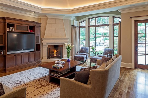 Living Room With Corner Fireplace 20 appealing corner fireplace in the living room | home design lover