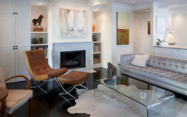 cowhide rug living room ideas 20 living rooms adorned with cowhide rugs home design lover 22436