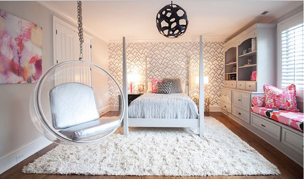 20 Trendy Bedrooms With Geometric Wallpaper Designs