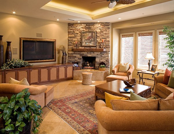 stacked stone fireplace james patrick walters design - Corner Fireplace Design Ideas