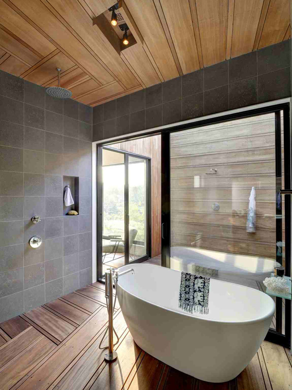 bathtub shower area
