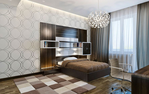 neutral wallpaper bedroom home design 20 trendy bedrooms with geometric wallpaper 12702