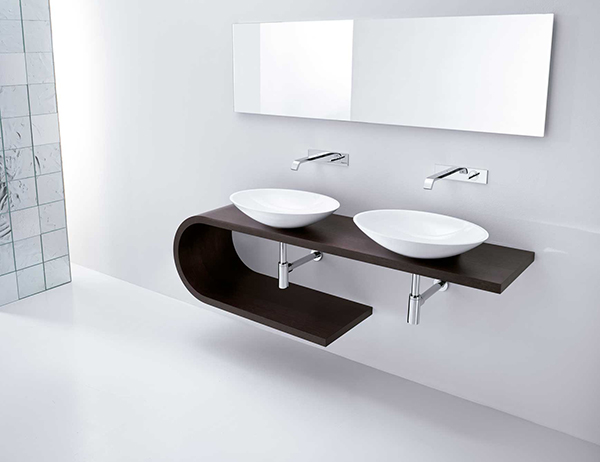 minimal vanity bathroom