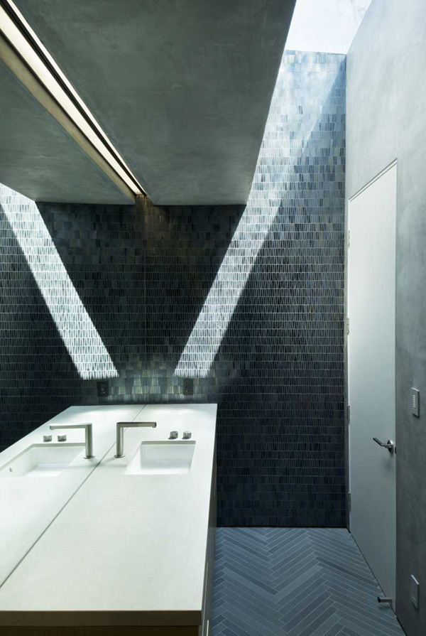 mosaic powder room