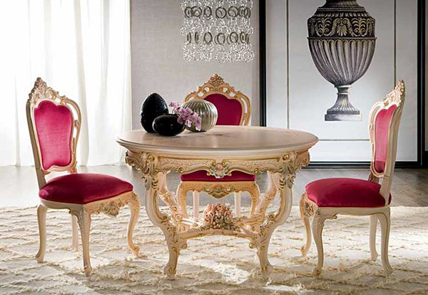 Victorian Round Dining Table Dafne