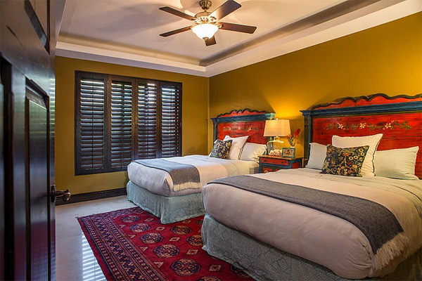 tropical guests bedroom
