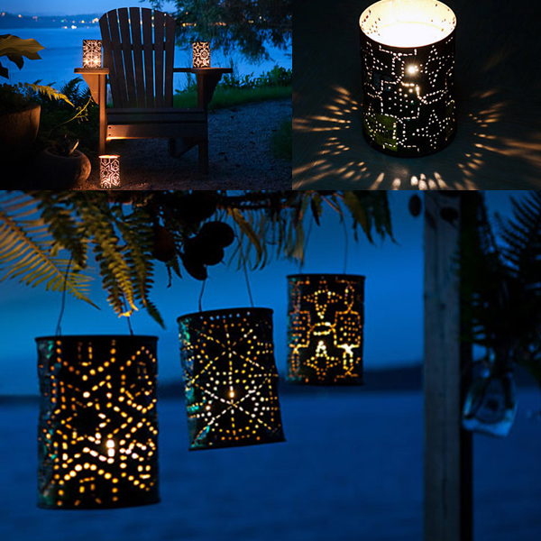 DIY Coffee Can Lanterns