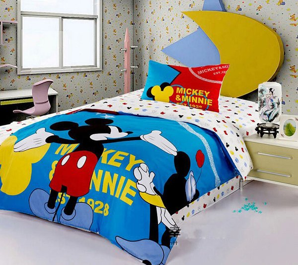 Fashion Brand Mickey Mouse Bedding Set