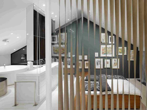 modern bathroom bedroom