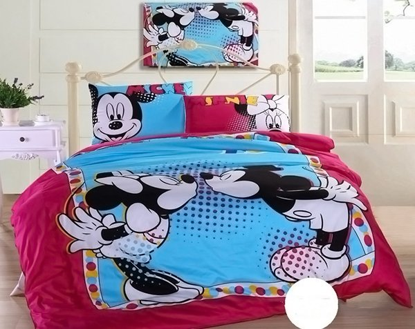 Mickey Mouse And Minnie Comforter Cover And Sheet