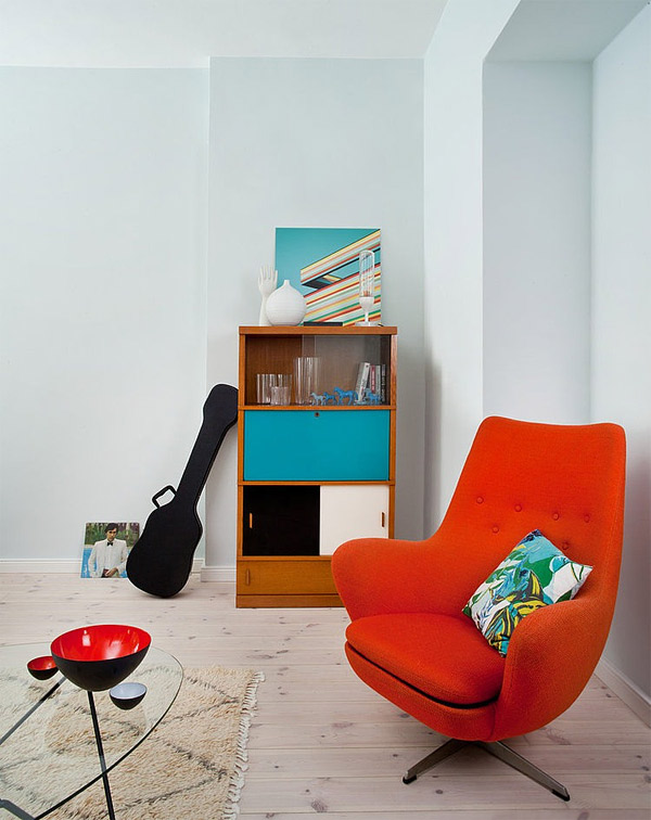 orange lounge chair