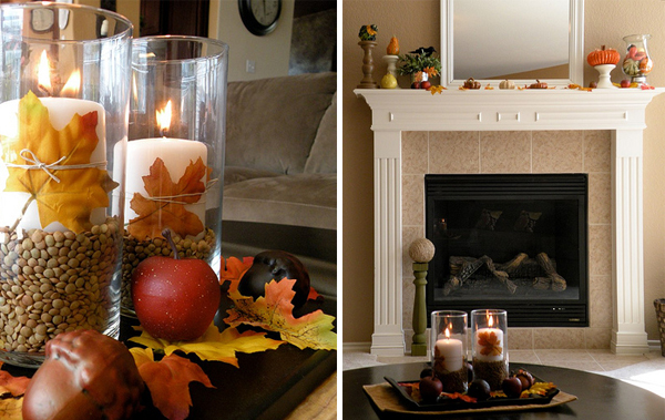 DIY Fall Coffee Table Centerpiece