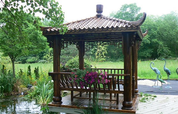Wooden Gazebo For Hot Tub >> 20 Asian Decks Showing a Fusion of Culture and Nature | Home Design Lover