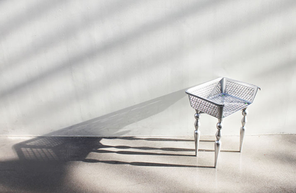 chic silver chair