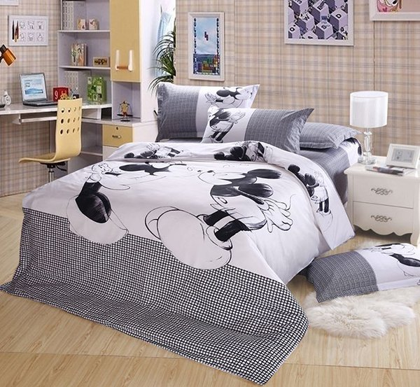 Bedding Mickey Minnie Mouse Set