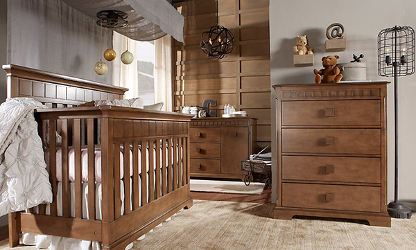 Wooden Glamour Nursery Idea