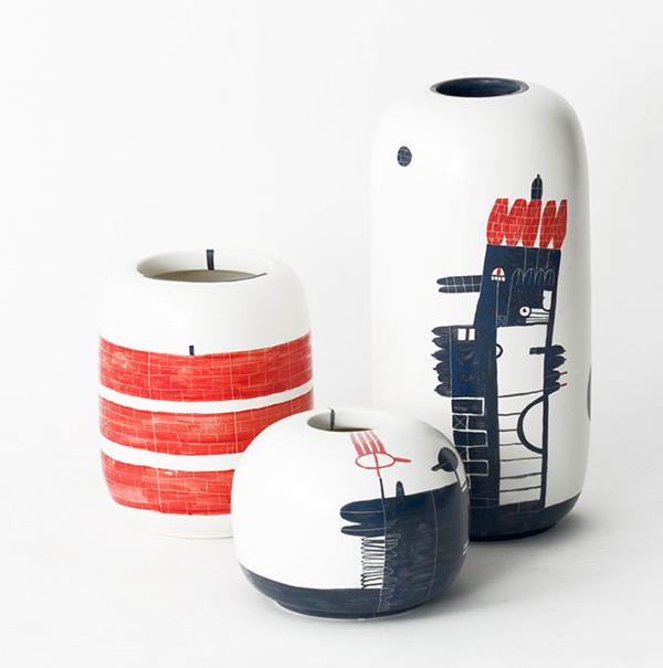 handmade vase painting