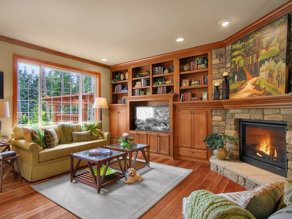 Small Living Room With Fireplace In Corner 20 appealing corner fireplace in the living room | home design lover
