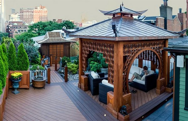 20 asian decks showing a fusion of culture and nature home design lover. Black Bedroom Furniture Sets. Home Design Ideas