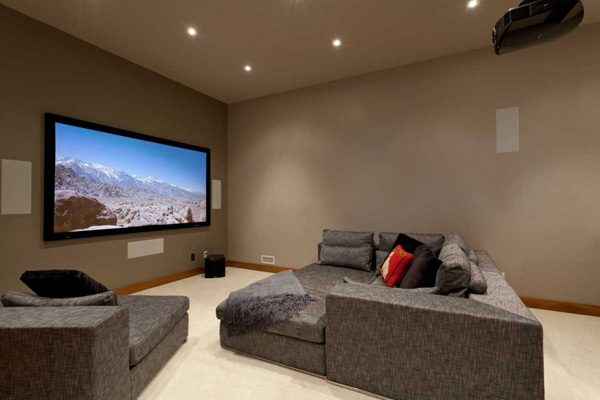 large TV entertainment area