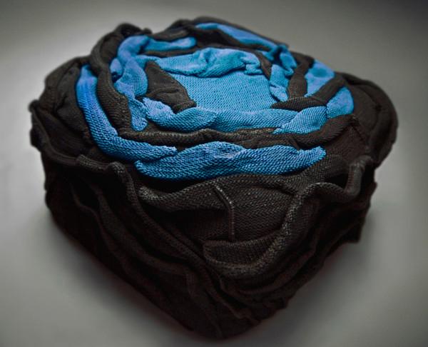black blue chair