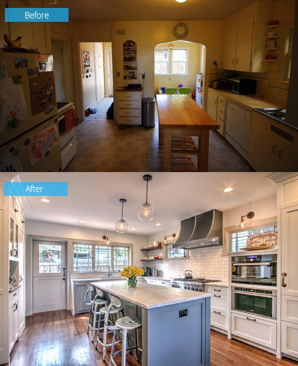 Before And After Seattle Kitchen Renovation With Added