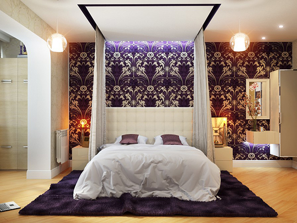 20 master bedrooms with purple accents home design lover 19552 | 1 floral purple