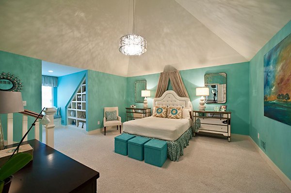 Elegant Girl Teenager Bedroom Paint