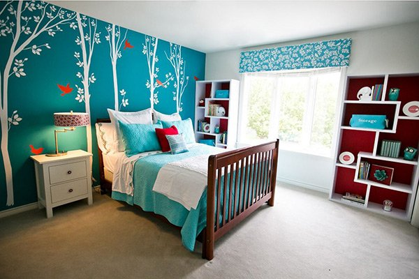 turquoise bedroom. Decals 20 Fashionable Turquoise Bedroom Ideas  Home Design Lover